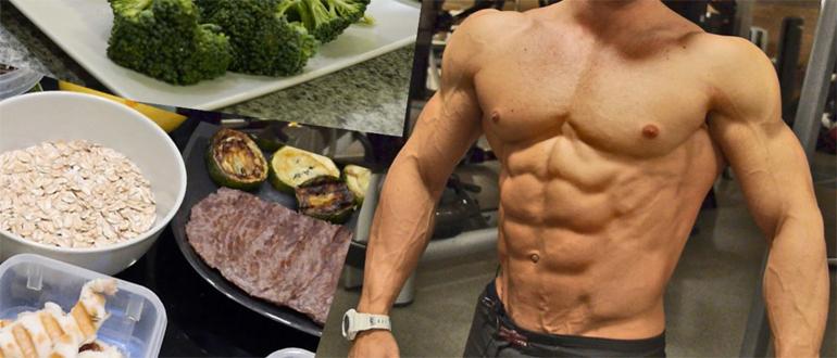 Меню для набора мышечной массы для мужчины на неделю