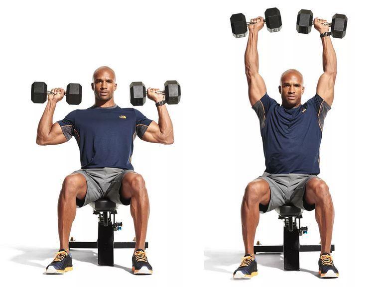 Программа тренировок с гантелями дома для мужчин плечи