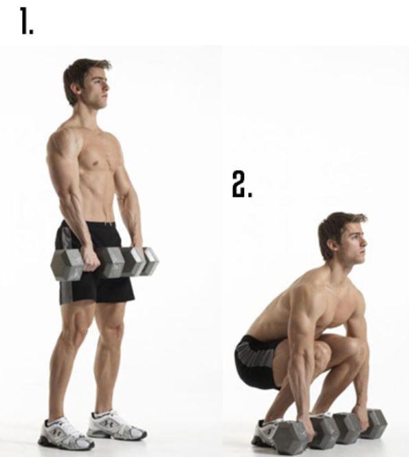 Программа тренировок с гантелями дома для мужчин становая