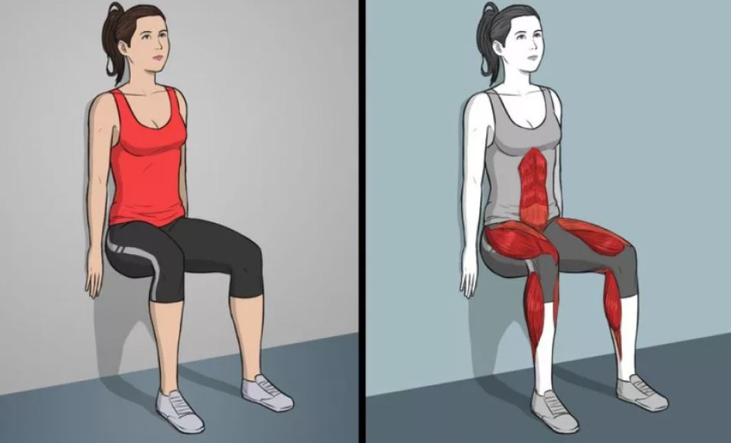 Упражнение стульчик для девушек
